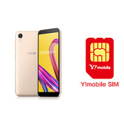 ワイモバイル×SIMフリースマホ セットキャンペーン [ASUS エイスース ZA550KL-GD32 「Zenfone Live L1 Series SIMフリースマートフォン シマーゴールド」 と Y!mobile nano SIMのセット(要回線契約)]