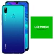 LINEモバイルセットでお得キャンペーン [Huawei ファーウェイ nova lite 3/Aurora Blue (SIMフリースマートフォン) + LINEモバイル 「エントリーパッケージ(SIMカード後日配送)」のセット]