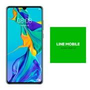 LINEモバイルセットでお得キャンペーン [Huawei ファーウェイ HUAWEI P30 Aurora (Android 9.0搭載 6.1インチ OLED トリプルカメラ搭載 SIMフリースマートフォン) + LINEモバイル 「エントリーパッケージ(SIMカード後日配送)」のセット]