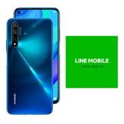 LINEモバイルセットでお得キャンペーン [Huawei ファーウェイ nova 5T/Crush Blue (SIMフリースマートフォン) + LINEモバイル 「エントリーパッケージ(SIMカード後日配送)」のセット]