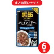 アイシア 黒缶パウチ かつお節入りまぐろとかつお 70g キャットフード ウェットフード パウチ 6個セット