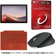 Surface Pro 7お買い得セット [「PUV-00014 Surface Pro 7(サーフェス プロ 7)/Intel Core i5プロセッサ/SSD 256GB/メモリ8GB/Office Home and Business 2019/プラチナ」 + 「タイプカバー(キーボード) ポピーレッド」 + 「ウイルスバスター」 + 「M720r マウス」]