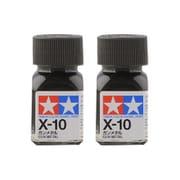 タミヤ TAMIYA  80010 タミヤカラー エナメル塗料 X-10 ガンメタル 光沢 2個セット