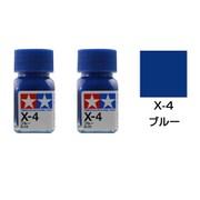 タミヤ TAMIYA  80004 タミヤカラー エナメル塗料 X-4 ブルー 光沢 2個セット