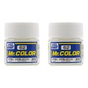 クレオス Creos Mr.カラーC-62 溶剤系アクリル樹脂塗料 つや消しホワイト つや消し 2個セット
