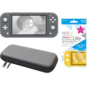 まとめ買いでお買い得!揃えて安心Nintendo Switch Liteセット [任天堂 Nintendo Switch Lite本体 グレー+ブルーライトカットガラスフィルム+ポーチ BK×BK]