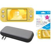 まとめ買いでお買い得!揃えて安心Nintendo Switch Liteセット [任天堂 Nintendo Switch Lite本体 イエロー+ブルーライトカットガラスフィルム+ポーチ BK×BK]