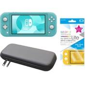まとめ買いでお買い得!揃えて安心Nintendo Switch Liteセット [任天堂 Nintendo Switch Lite本体 ターコイズ+ブルーライトカットガラスフィルム+ポーチ BK×BK]