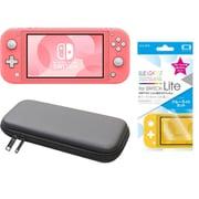 まとめ買いでお買い得!揃えて安心Nintendo Switch Liteセット [任天堂 Nintendo Switch Lite本体 コーラル+ブルーライトカットガラスフィルム+ポーチ BK×BK]