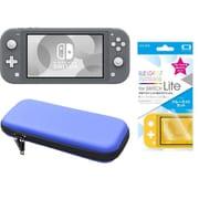まとめ買いでお買い得!揃えて安心Nintendo Switch Liteセット [任天堂 Nintendo Switch Lite本体 グレー+ブルーライトカットガラスフィルム+ポーチ BL×BK]
