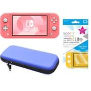 まとめ買いでお買い得!揃えて安心Nintendo Switch Liteセット [任天堂 Nintendo Switch Lite本体 コーラル+ブルーライトカットガラスフィルム+ポーチ BL×BK]