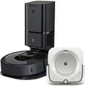 iRobot アイロボット ルンバ + ブラーバ 同時購入お買い得セット [「i755060 ロボット掃除機 Roomba(ルンバ)i7+ チャコール」 + 「m613860 床拭きロボット Braava jet m6 (ブラーバジェット)  ホワイト」]
