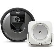 iRobot アイロボット ルンバ + ブラーバ 同時購入お買い得セット [「i715060 ロボット掃除機 Roomba(ルンバ)i7 チャコール」 + 「m613860 床拭きロボット Braava jet m6 (ブラーバジェット)  ホワイト」]