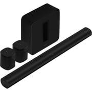 【らくらくカートイン】Sonos ソノス ホームシアターセット 「ARCG1JP1BLK Sonos Arc スマートサウンドバー ブラック」+「SUBG3JP1BLK Sonos Sub ワイヤレスサブウーファー(Gen3) ブラック」+「Sonos One SL スピーカー ブラック×2個」
