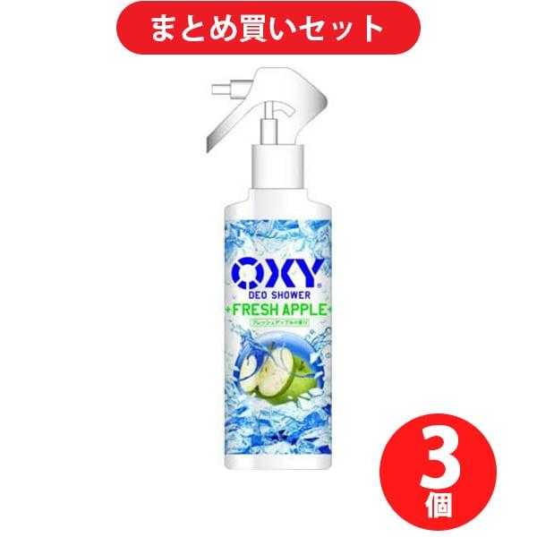 【らくらくカートイン】 ロート製薬 ROHTO オキシー OXY 冷却デオシャワー フレッシュアップルの香り 200ml [3個セット]