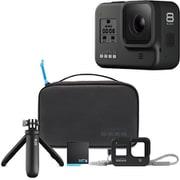 GoPro HERO8 BLACK + トラベルキット同時購入お買い得セット [CHDHX-801-FW GoPro HERO8 BLACK ウェアラブルカメラ + AKTTR-001B トラベルキット黒]