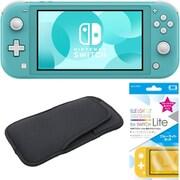 まとめ買いでお買い得!揃えて安心Nintendo Switch Liteセット [任天堂 Nintendo Switch Lite本体 ターコイズ+ブルーライトカットガラスフィルム+スリムソフトポーチ BK×BK]