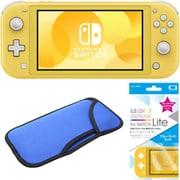 まとめ買いでお買い得!揃えて安心Nintendo Switch Liteセット [任天堂 Nintendo Switch Lite本体 イエロー+ブルーライトカットガラスフィルム+スリムソフトポーチ BL×BK]
