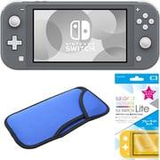 まとめ買いでお買い得!揃えて安心Nintendo Switch Liteセット [任天堂 Nintendo Switch Lite本体 グレー+ブルーライトカットガラスフィルム+スリムソフトポーチ BL×BK]