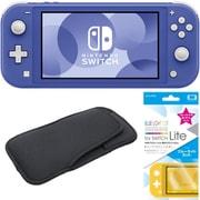 まとめ買いでお買い得!揃えて安心Nintendo Switch Liteセット [任天堂 Nintendo Switch Lite本体 ブルー+ブルーライトカットガラスフィルム+スリムソフトポーチ BK×BK]