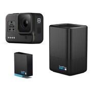 GoPro HERO8 BLACK + デュアルバッテリーチャージャー同時購入お買い得セット [CHDHX-801-FW GoPro HERO8 BLACK ウェアラブルカメラ + AJDBD-001-AS]