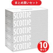 【まとめ買い割引】クレシア Crecia スコッティ スコッティ ティシュー 400枚(200組)×5箱パック 10セット