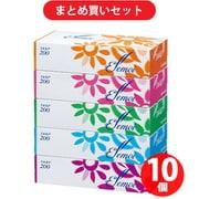 【らくらくカートイン】カミ商事 エルモア ティシュー 200組(400枚) 5箱パック 10個セット [ボックスティッシュ]