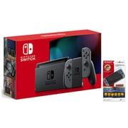 【まとめ買い割引】Nintendo Switch本体 + 液晶保護ガラス セット [任天堂 Nintendo Switch (L)/(R)グレー + CY-NSGP-BCY 高硬度液晶保護ガラスパネル ブルーライトカットタイプ]