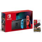 【まとめ買い割引】Nintendo Switch本体 + 液晶保護ガラス セット [任天堂 Nintendo Switch (L)ネオンブルー/(R)ネオンレッド + CY-NSGP-HCY 高硬度液晶保護ガラスパネル]