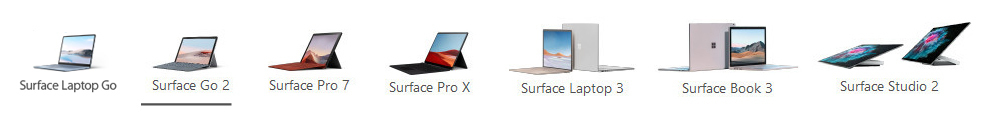 Surface menu