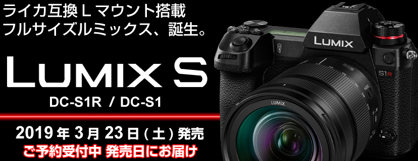 LUMIX初、フルサイズミラーレス一眼カメラ「Sシリーズ」