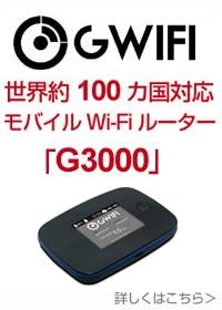 Wi-Fiルーター 「G3000」