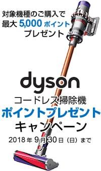 ダイソン ポイントプレゼントキャンペーンについて >